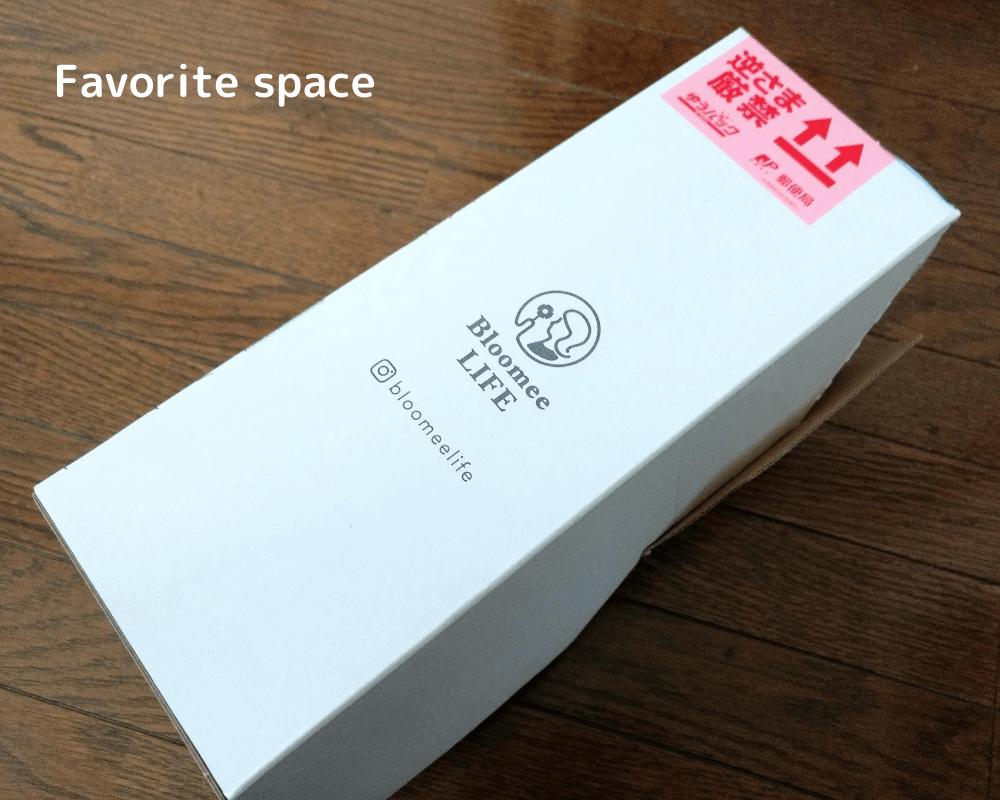 ブルーミーライフギフトの配達された箱の画像