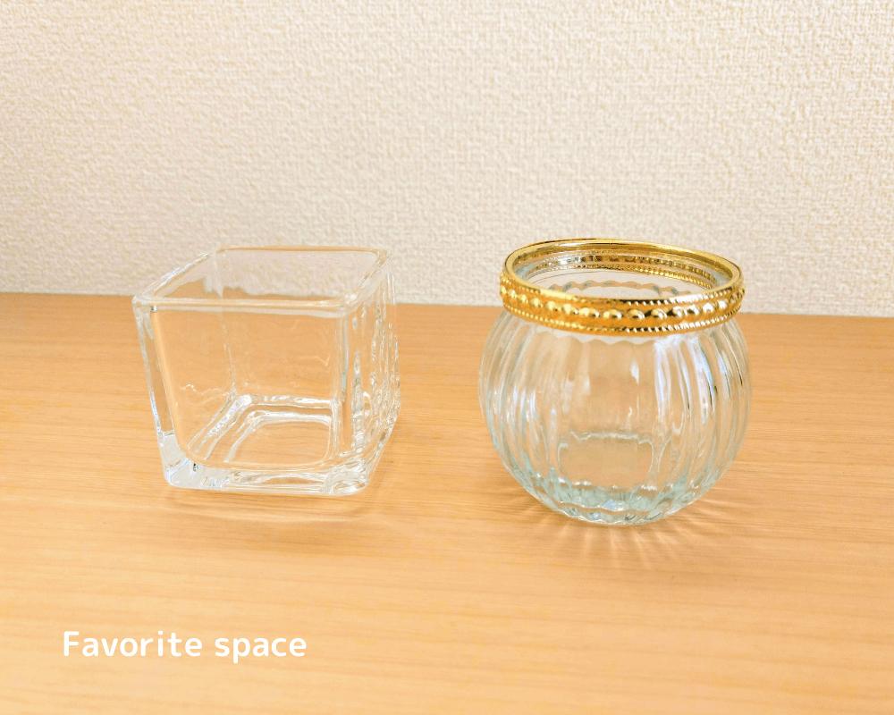 セリアの浅い花瓶の画像