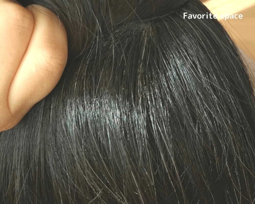 髪萌え使用後の画像