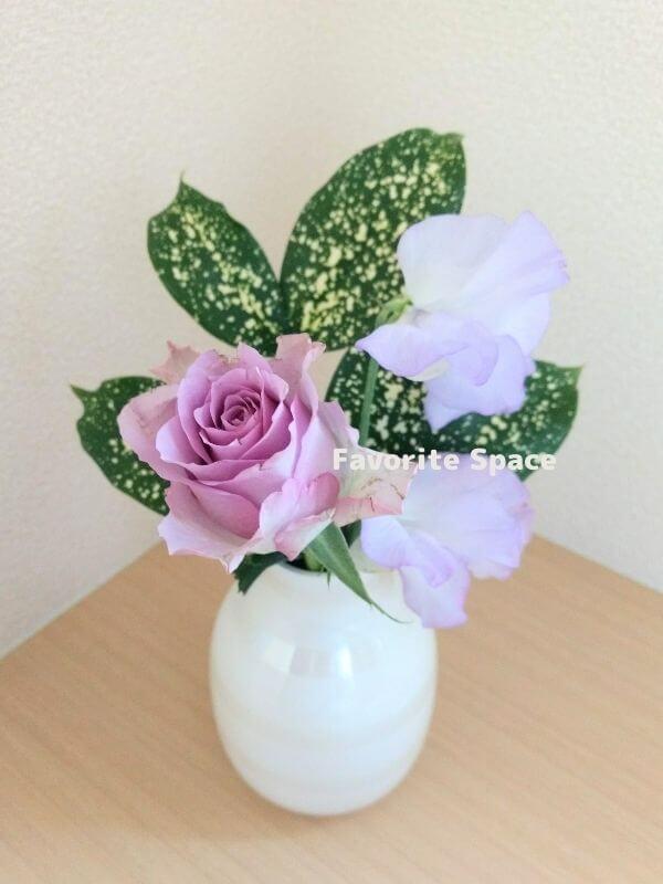 ライフルフラワーの定期便のバラの画像