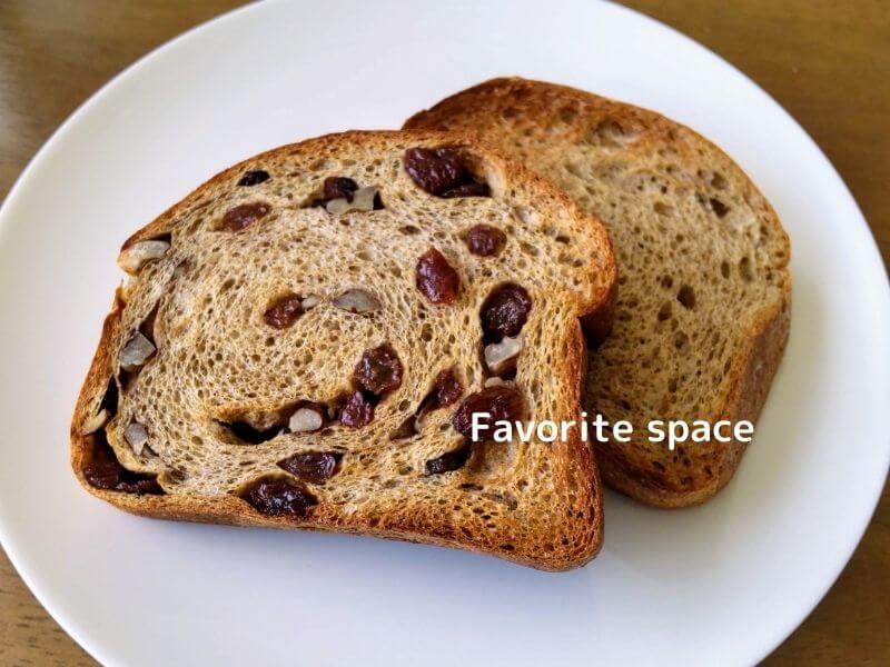 ブランパンの食パンをトーストした画像